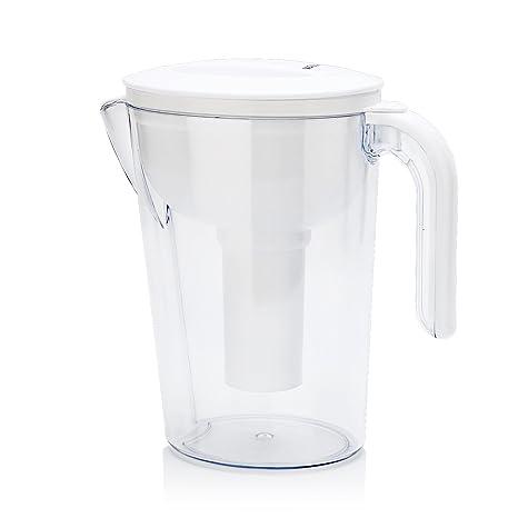 waljin 11 taza sin BPA agua jarra con 1 filtro, color blanco.