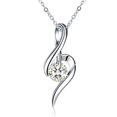 Amazon jse necklaces pendant necklace with 925 sterling jse necklaces pendant necklace with 925 sterling silver and 3a cubic zirconia aloadofball Images