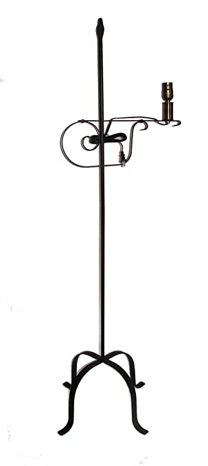 Amazon.com : Wrought Iron Floor Lamp Flame Top - Amish Made : Video ...