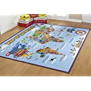 Amazon Com Smithsonian Rug World Map Learning Carpets