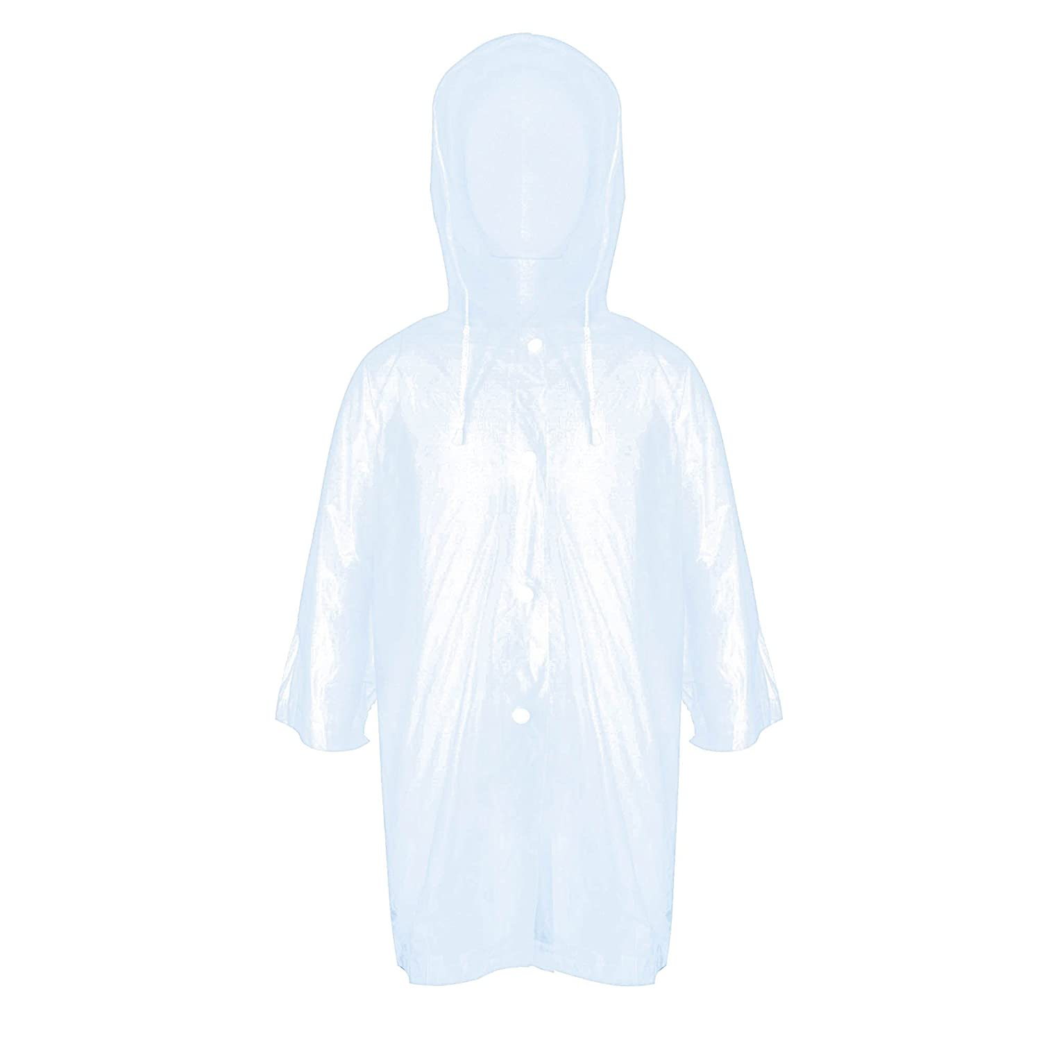 ZDHGLOBAL ZDH Kids Children Rain Poncho Raincoat Portable With Hoods and Sleeves