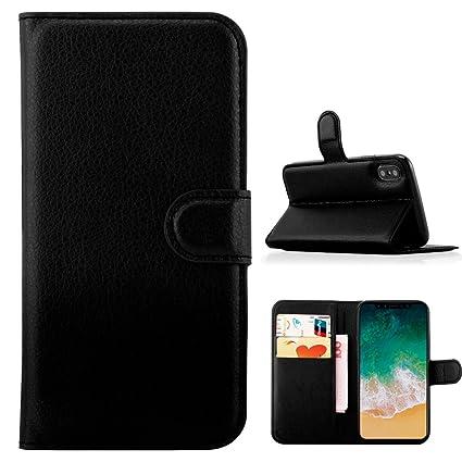 Amazon.com: iPhone X Wallet Case Tecnología RFID bloqueo ...