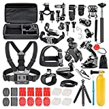 Followsun 60-In-1 Action Camera Accessories Kit for GoPro Hero/Session/Hero 6 5 4 3+ 3 2 1 Campark ACT74 AKASO EK7000 Crosstour APEMAN DBPOWER FITFORT ENEK Acko Lightdow Sony Sports DV and more