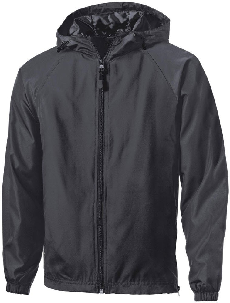 Joe's USA tm Tall Hooded Full Zip Raglan Jacket-GraphiteGrey-2XLT by Joe's USA