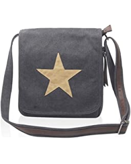 d093dc1367 LeahWard® Women s Men s Uni Sex Canvas Cross Body Bags With Star Print 161