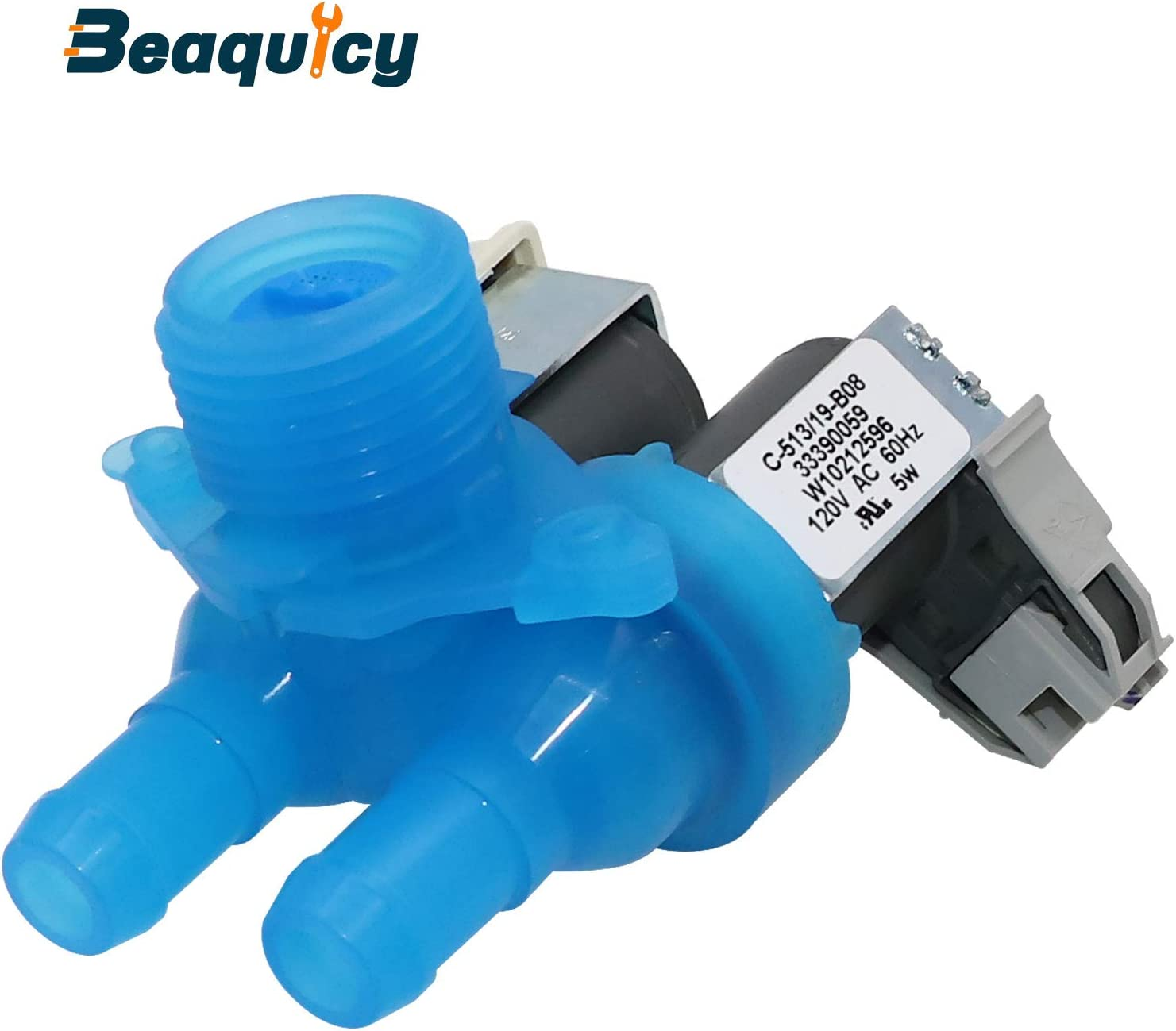 W10212596 Cold Water Inlet Valve for Washing Machine by Beaquicy - Replacement for Whirlpool Maytag Amana Inglis Washers - Water Inlet Valve for the Cold Water