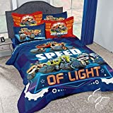 monsters inc bedding set twin - MONSTER TRUCK BLAZE ORIGINAL LICENSE KIDS BOYS COMFORTER SET AND SHEET SET 5 PCS TWIN SIZE