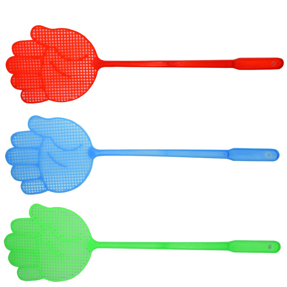 Richohome Fly Swatter Manual Swat Pest Control sweet Long Handle- Colorful Pack of 10