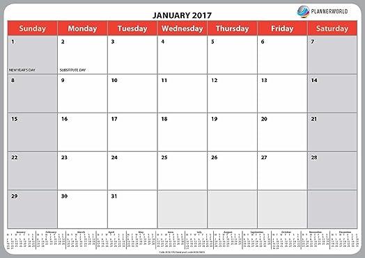 calendar 2017 office