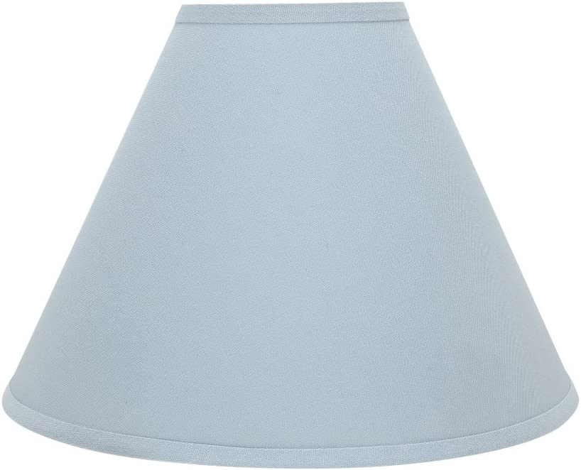 "Aspen Creative 32267 Transitional Hardback Empire Shaped Spider Construction Lamp Shade in Light Blue, 16"" Wide (6"" x 16"" x 12""),"
