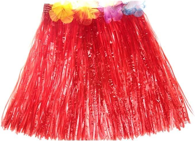 Decdeal Falda Hawaiana Niña/Mujer Falda de Hula para Fiesta ...