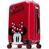 スーツケース キャリーバッグ キャリーケース MINNIE ミニー 赤 RED レッド Disney ディズニー キャラクター ジッパータイプ TSAロック ダブルキャスター 高性能 ブランド 高級