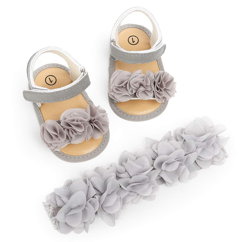 134ce59d11029 Amazon.com : Luonita Infant Baby Girls Summer Sandals with Flower ...