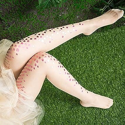 Magical Mermaid Socks Womens Girls Mermaid Fish Scale Sparkling Tights Legging Pantyhose Stockings