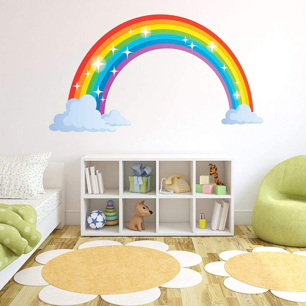 Sparkling Rainbow Wall Decal by Style & Apply - Wall Sticker, Vinyl Wall Art, Home Decor, Wall Mural - SD3065-71x40