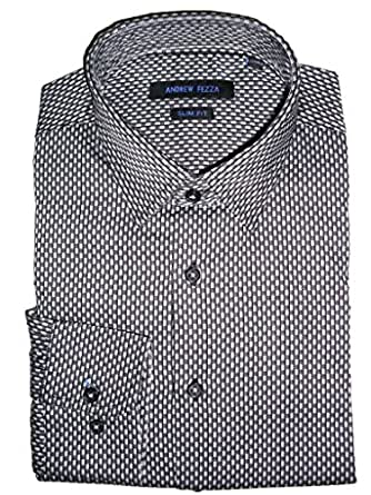Andrew Fezza Men 39 S Tonal Check Dress Shirt At Amazon Men S