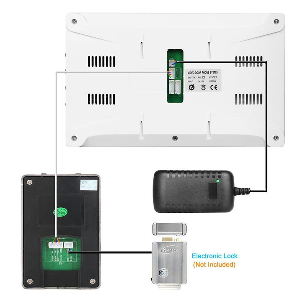 Awakingdemi 7 Inch Video Door Phone Doorbell Intercom 1-camera 1-monitor Night Vision by Awakingdemi (Image #8)
