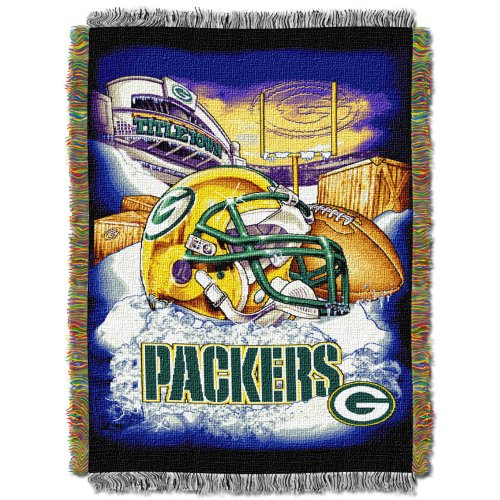 The Northwest Company Officially Licensed NFL Green Bay Packers Home Field Advantage Woven Tapestry Throw Blanket, 48