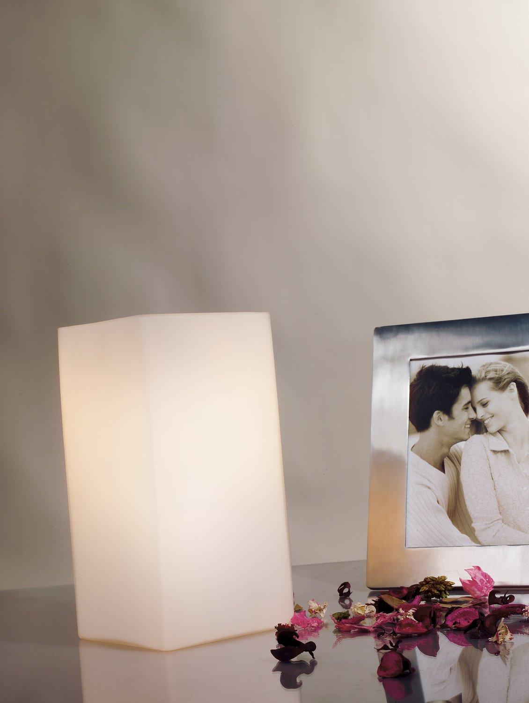 0 W 11 x 11 x 24 cm Cromo Color blanco Paulmann 77029 Pinja-L/ámpara de Mesa de 3 encendidos t/áctil E14