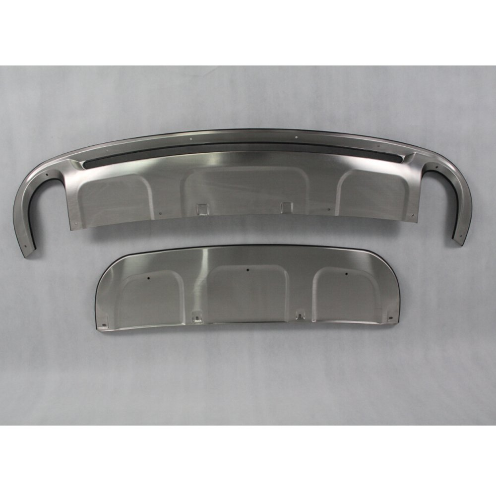Kingcher Skid Plates for Audi Q7 S-Line 2011-2015 Front Rear Bumper Guard Protector Stainless Steel