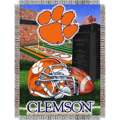 Clemson Tigers NCAA Woven Tapestry Throw (Home Field Advantage) (48x60