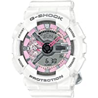 Casio GMAS110MP-7A Women's G-Shock S Series Ana-Dig Grey Dial White Resin Strap Alarm Dive Watch