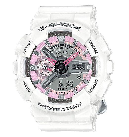 4ad7eb64f6bef1 Casio G-Shock GMAS110MP-7A S Series Analog Digital White Watch: Amazon.ca:  Watches