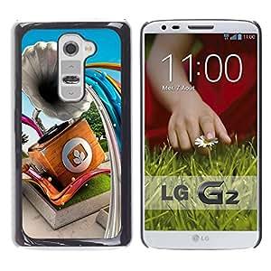 Be Good Phone Accessory // Dura Cáscara cubierta Protectora Caso Carcasa Funda de Protección para LG G2 D800 D802 D802TA D803 VS980 LS980 // Gramophone Abstract Lines