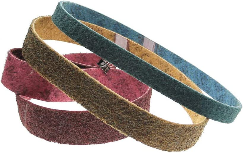Non-Woven Nylon Sanding Bands Very Coarse to Fine Fiber Abrasive Belts,P240 Red 2000x50mm P600 Grey 1220x50mm