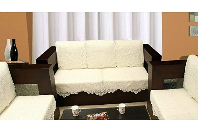 SANSEZZ� 6 Piece Sofa and Chair Cover Set (White)
