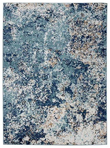 Persian Rugs 6490 Blue 8 x 10 Abstract Modern Area Rug (Area 10x13 Rugs Sale)