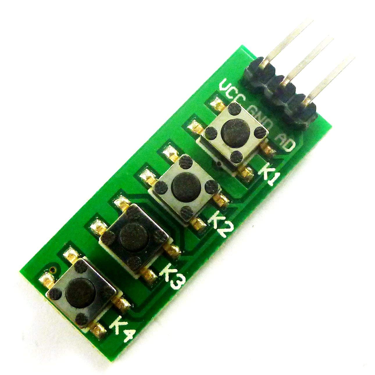Liobaba Arduino keypad 4 Button Key Module Switch Keyboard for UNO MEGA2560 Breadboard