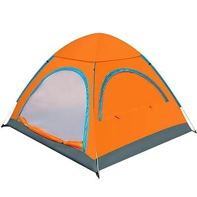 Tente Respirante Sundome Tente 4 Personnes,Orange-L