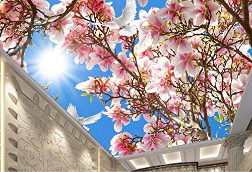 Lwcx Custom Ceiling 3D Wallpaper Sky Peach Butterfly In The Living Room Ceiling Luxury Wallpaper F 350X245CM by LWCX (Image #1)