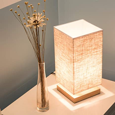 Lámpara de mesa de madera de arpillera dormitorio estudio ...