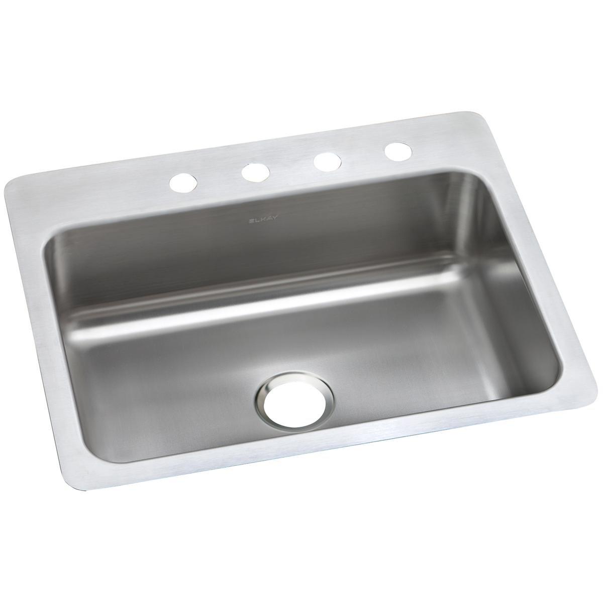 Elkay DSESR127221 Dayton Single Bowl Dual Mount Stainless Steel Sink by Elkay
