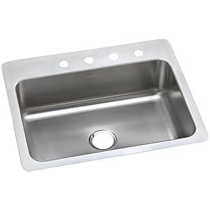 Dayton DSESR127221 Single Bowl Dual Mount Stainless Steel Sink