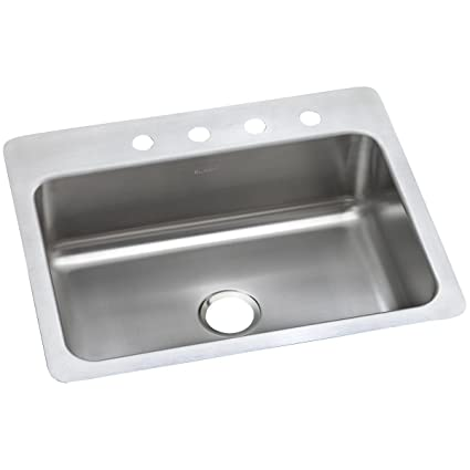 Delicieux Dayton DSESR127224 Single Bowl Dual Mount Stainless Steel Sink