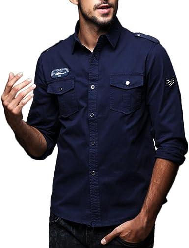 FAMILIZO Camisas Hombre Manga Larga Slim Fit Camisas Hombre Lino Camisas Hombre Originales Polos Tops Blusa Hombre Blanca OtoñO Moda Business Casual Formal Slim Button-Down Ropa De Trabajo: Amazon.es: Ropa y accesorios