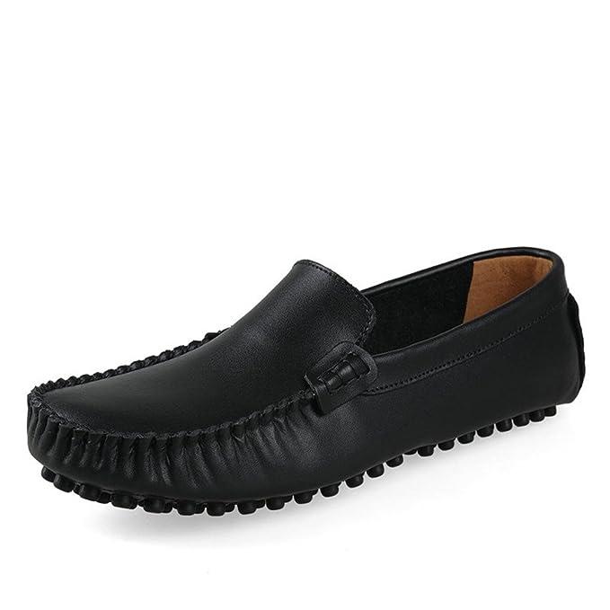 Hombres Zapatos de cuero genuino Hombres de la moda Zapatos casuales Mocasines Mocasines Drivng Zapatos Zapatos Tamaño grande 35~47: Amazon.es: Ropa y ...