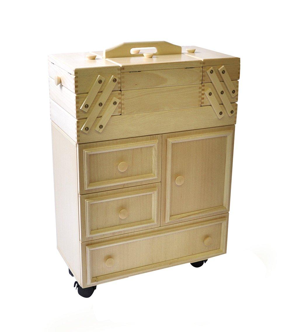 Armoire Machine Coudre Norma Jean Blanc Amazon Fr Cuisine  # Meuble Tv Norma