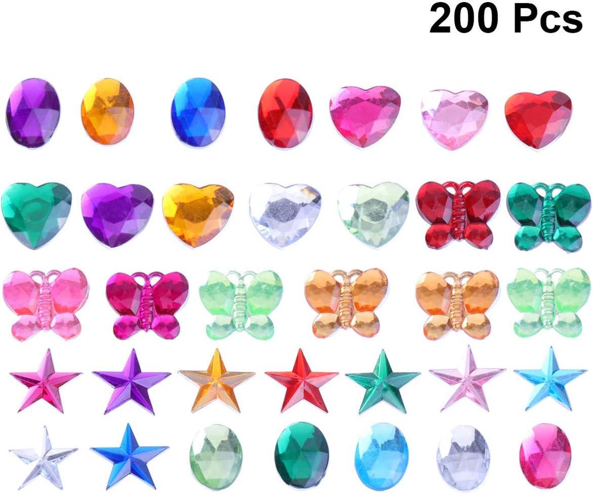 Supvox 5 Sacchetti di Strass Acrilici Flatback Adesivi con Strass Autoadesivi con Gemme di Cristallo Adesivi Gemma di Cristallo per Arte E Artigianato