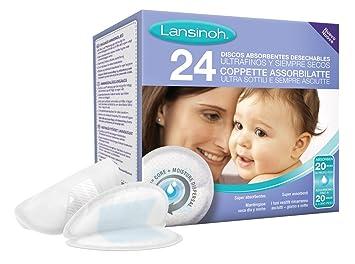 Lansinoh - Discos Absorbentes Desechables de Lactancia, 24 ...