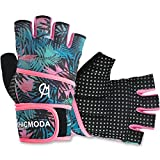 CHICMODA Women's Men's Weight Lifting Gym Gloves With 18' Wrist Wrap, Anti-Slip Sport Gloves with Padded Palm Support for Workout, Weightlifting, Fitness & Cross Training (1 Pair)