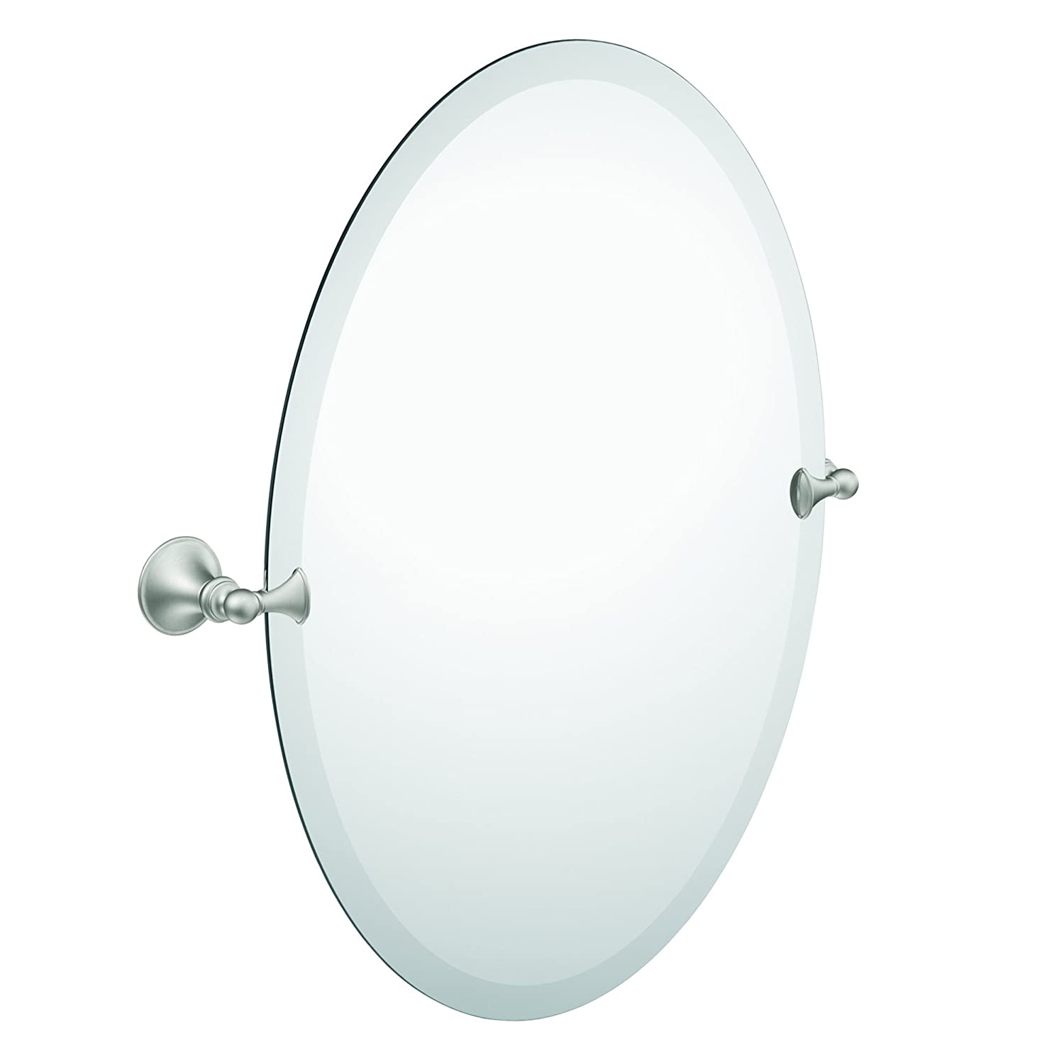 Amazon.com: Moen DN2692BN Glenshire Bathroom Oval Tilting Mirror, Brushed  Nickel: Home Improvement