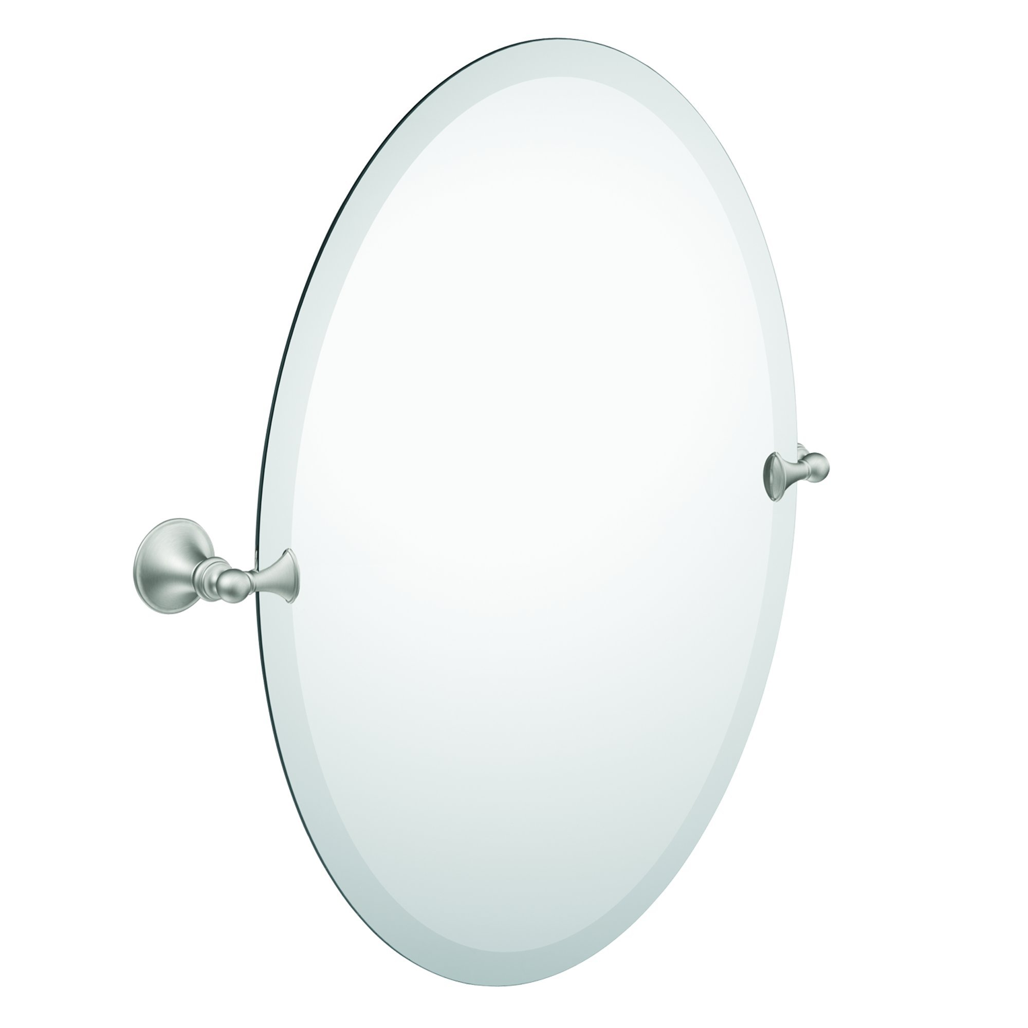Moen DN2692BN Glenshire Bathroom Oval Tilting Mirror, Brushed Nickel