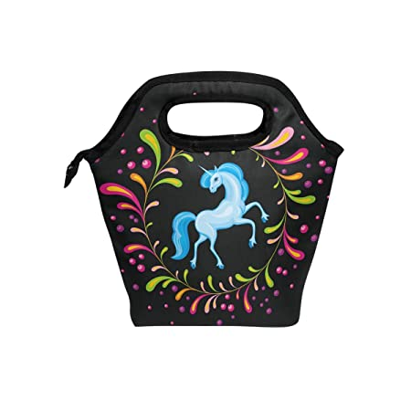 ASVIP bolsa de almuerzo aislada con diseño de unicornio para ...