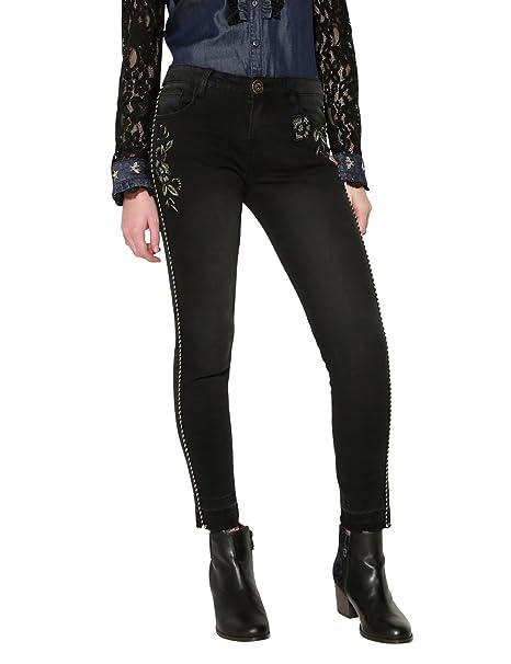 Desigual Denim_pipin Pantalones Vaqueros Delgados para Mujer ...