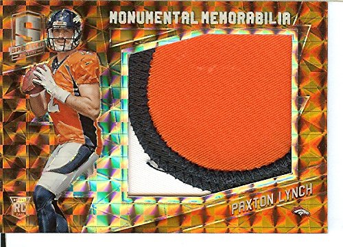 Football NFL 2016 Spectra Immense Materials Neon Orange #23 Paxton Lynch MEM /3 Broncos by Spectra