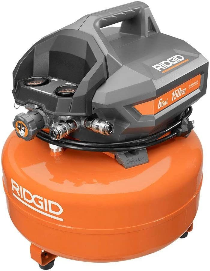 Ridgid 6 Gallon 150 PSI Maintenance Free Portable Electric Pancake Compressor